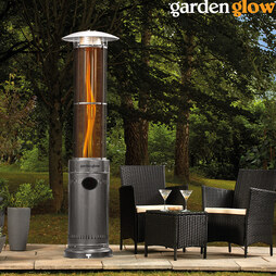 Garden Glow Circle Flame Gas Patio Graphite