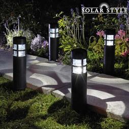 Solar Style Solar Bollard Lights Twin Pack