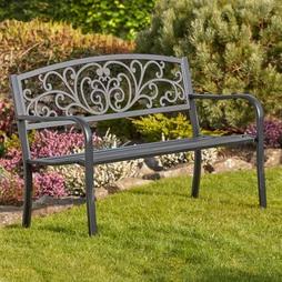 Garden Life Henley Metal Garden Bench Bronze