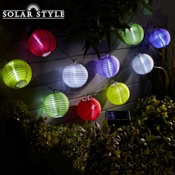 Solar Style Chinese Lantern String Lights Twin Pack