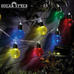 Solar Style 10 Multi Coloured Bulb Mini Festoon Lights