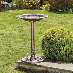 Happy Beaks Bird Bath - Bronze