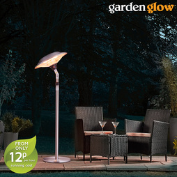 Garden Glow 2100W Free Standing Tilting Electric Patio Heater