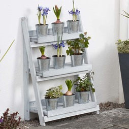 Garden Grow Ninepiece Small Zinc Planter Set