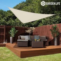 Garden Life 3Metre Triangle Waterproof Sun Shade Sail Cream