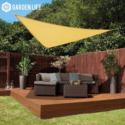 Garden Life 3Metre Triangle Waterproof Sun Shade Sail Sand