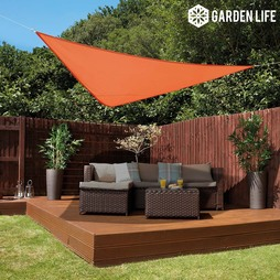 Garden Life 3Metre Triangle Waterproof Sun Shade Sail Terracotta