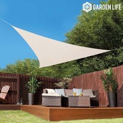 Garden Life 3.6Metre Triangle Waterproof Sun Shade Sail Cream