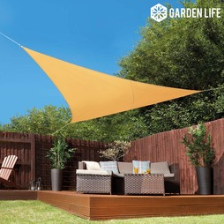 Garden Life 3.6Metre Triangle Waterproof Sun Shade Sail Sand