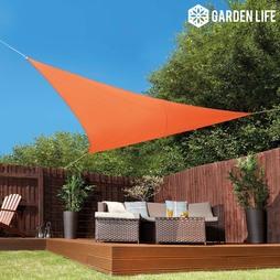 Garden Life 3.6Metre Triangle Waterproof Sun Shade Sail Terracotta