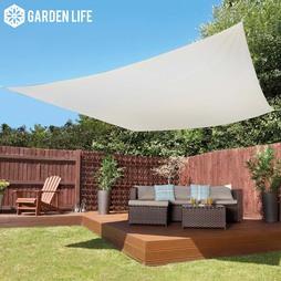 Garden Life 3Metre Square Waterproof Sun Shade Sail Cream