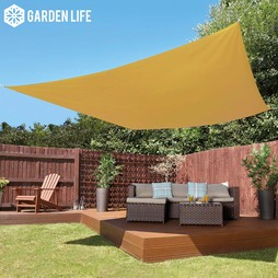 Garden Life 3Metre Square Waterproof Sun Shade Sail Sand