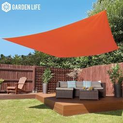 Garden Life 3Metre Square Waterproof Sun Shade Sail Terracotta