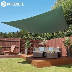 Garden Life 3Metre Square Waterproof Sun Shade Sail Green