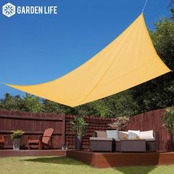 Garden Life 3x4m Waterproof Sun Shade Sail Sand