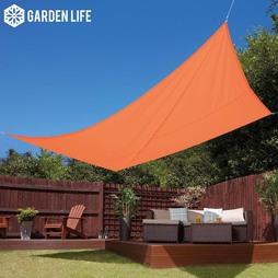 Garden Life 3x4m Waterproof Sun Shade Sail Terracotta