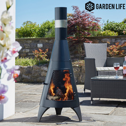 Garden Life Contemporary Steel Chimenea