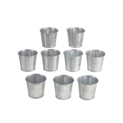 Garden Grow Ninepiece Small Zinc Planter Set