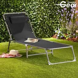 Garden Gear Zero Gravity Sun Lounger Black