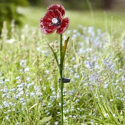 Set of Two Solar Poppy Flowers