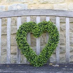 Boxwood Hanging Heart