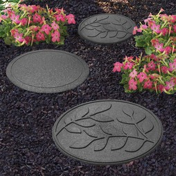 Reversible EcoFriendly Stepping Stone Leaves 4 Pack Earth