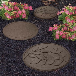 Reversible Eco-Friendly Stepping Stone Leaves - Earth