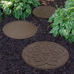 Reversible EcoFriendly Stepping Stone Scroll 3 Pack Earth