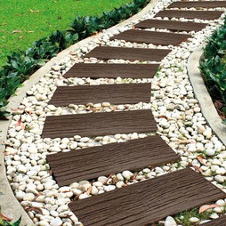 EcoFriendly Stepping Stone Rail Road Sleepers Pack of 4