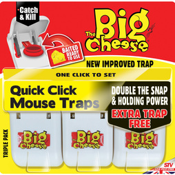 The Big Cheese Quick Click Mouse Traps 3x Twin Packs