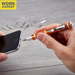 Work Expert 10Piece Precision Screwdriver Bit Pen Set