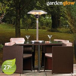 Garden Glow 2100W Table Top Patio Heater