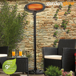 Patio Heater and Cover Grey