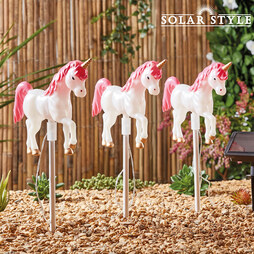 Solar Style Set of 3 Unicorn Lights