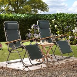 Garden Gear Ultimate Zero Gravity Chair Green 2 Pack