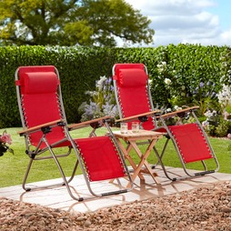Garden Gear Ultimate Zero Gravity Chair Red
