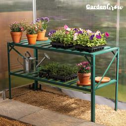 Garden Grow TwoTier Slatted Staging