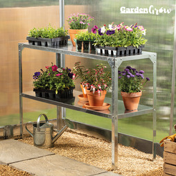 Garden Grow TwoTier Galvanised Staging