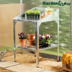 Garden Grow Galvanised TwoTier Potting Bench