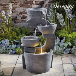 Serenity Sculpted FourTier Bowl Water Feature