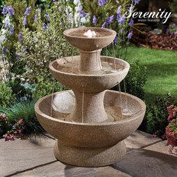 Serenity Modern ThreeTier Cascade Water Feature