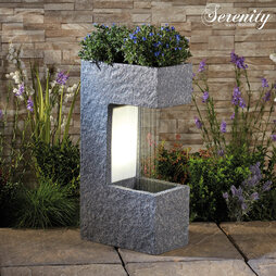 Serenity Modern Rainfall Water Feature with Planter