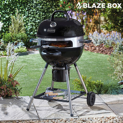 Blazebox 21inch Kettle Barbeque with Pizza Ring, Stone and Paddle