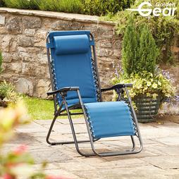 Garden Gear Padded Zero Gravity Chair Teal