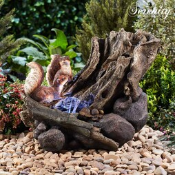 Serenity Squirrel Woodland Water Feature