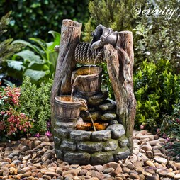 Serenity Cascading Buckets Wishing Well Water Feature