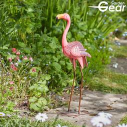 Garden Gear Metal Flamingo Garden Ornament