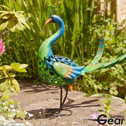 Garden Gear Metal Peacock Garden Ornament