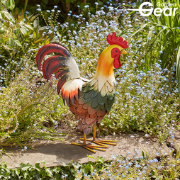 Garden Gear Metal Cockerel Garden Ornament