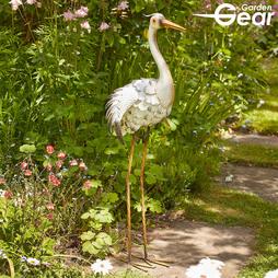 Garden Gear Metal Heron Garden Ornament